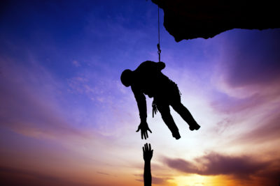 Man on rope saving another person - BVR Attorneys